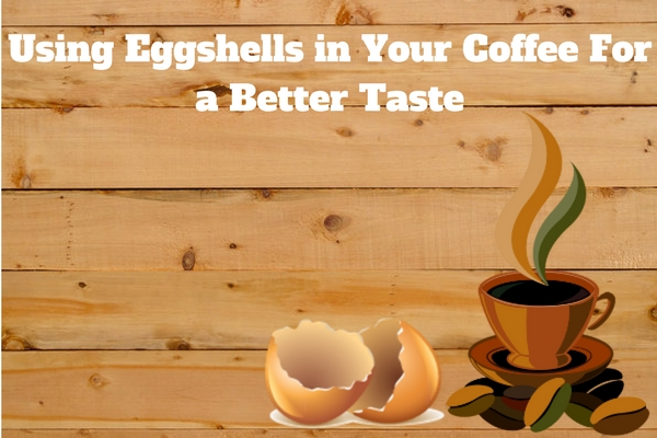 egg shell in coffee