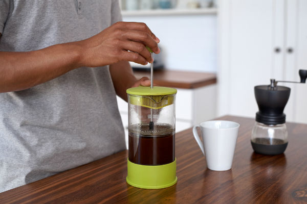 making coffee with a French press