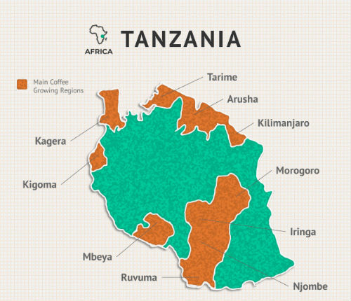 tanzania-peaberry-coffee-regions