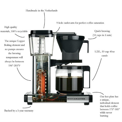moccamaster KBG coffee brewer 500x500