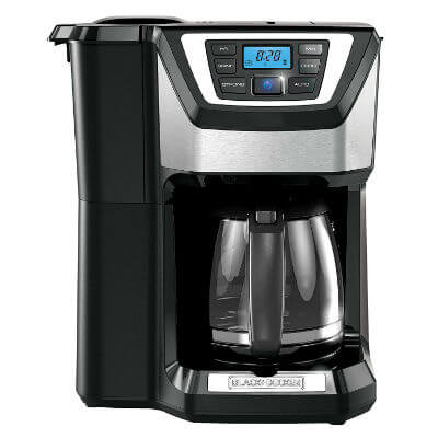 BLACKDECKER 12-Cup Mill and Brew Coffeemaker Black CM5000B